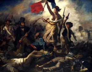 La Liberté guidant le peuple (28 juillet 1830), 1830. Huile sur toile, 260 x 325 cm. Musée du Louvre, Paris.