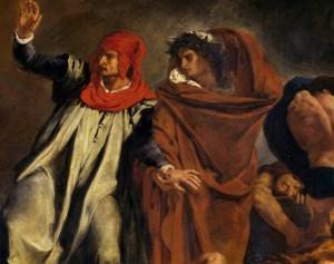 Dante et Virgile aux enfers, dit La Barque de Dante, 1822. Huile sur toile, 189 x 241 cm. Musée du Louvre, Paris