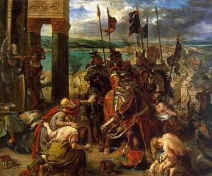 Prise de Constantinople par les croisés, dit L'Entrée des croisés à Constantinople, 1840. Huile sur toile, 411 x 497 cm. Musée du Louvre, Paris.